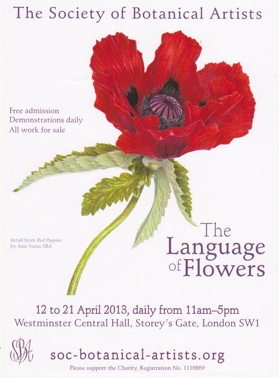 Invitación exposición The Languaje of Flowers