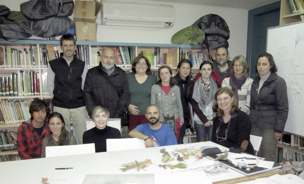 Alumnos, Curso dibujo botánico, Jardín Botánico Atlántico, Gijón 2013