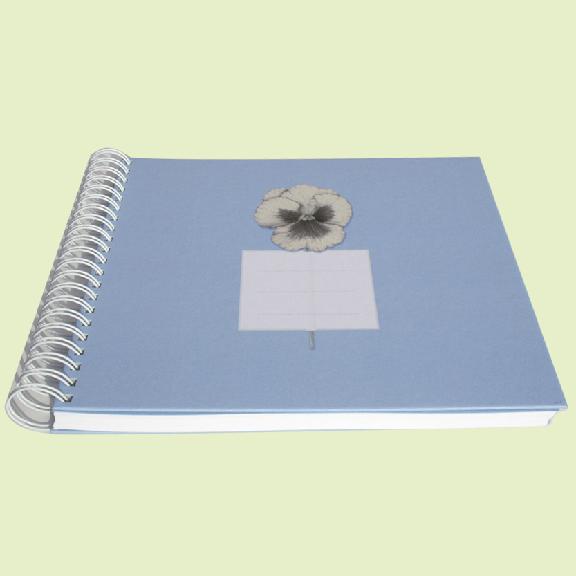 Album o cuaderno azul
