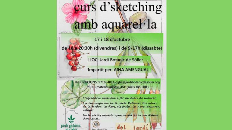 Curso de dibujo botánico a la acuarela