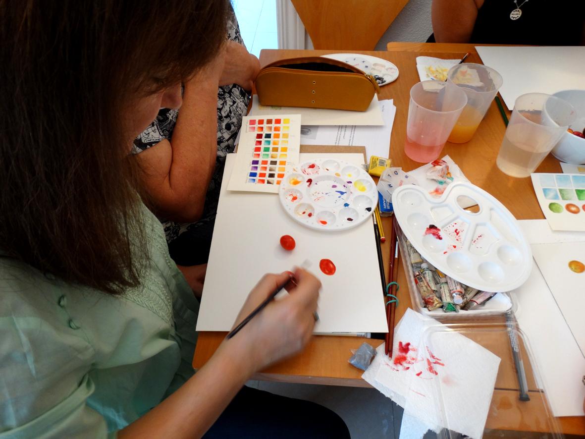 pintando en acuarela con Shevaun