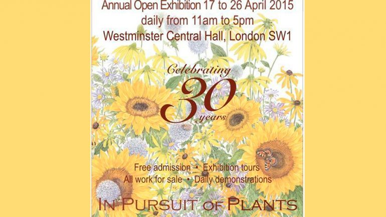 Exposición anual, The Society of Botanical Artists