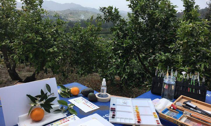 Cursos de pintura botánica con Shevaun Doherty